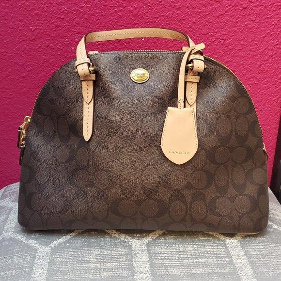 Coach Handbags - Coach Peyton Signature Cora Bag F26184